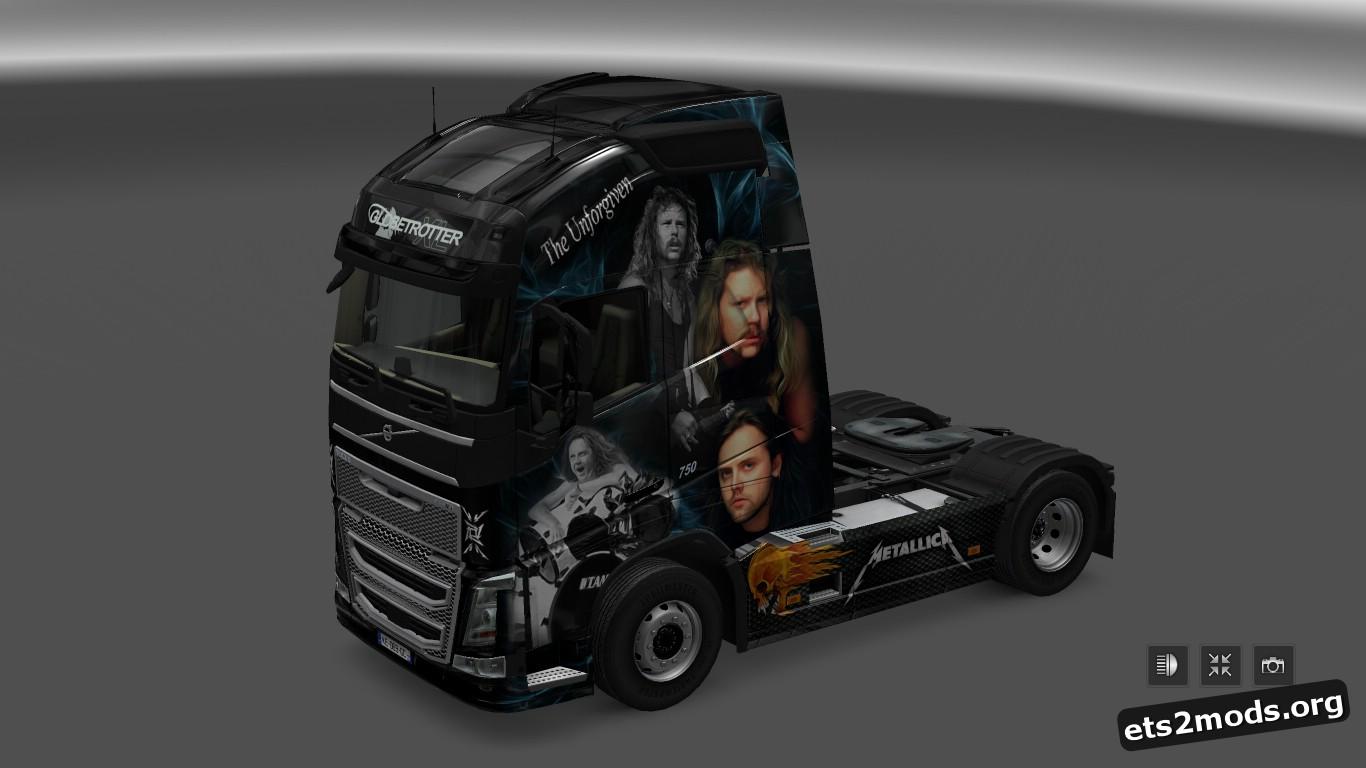 Globetrotter Metallica Skin for Volvo 2012