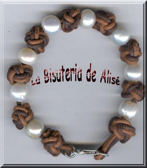 445f2310a7b1 La Bisuteria de Alisé  Pulsera Nudos Cuero