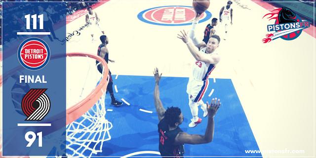 Résumé du match Pistons-Blazers | PistonsFr, actualité de Detroit en France