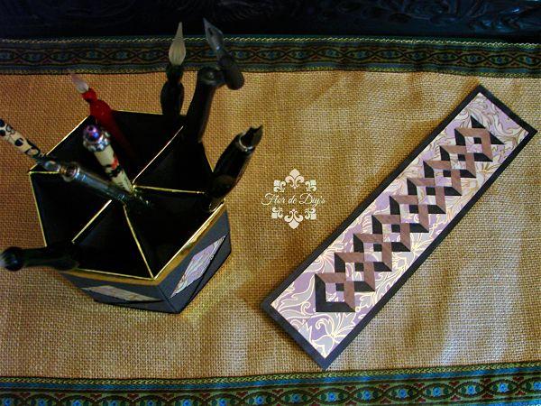 marcador-y-portalapices-origami-flor-de-diys