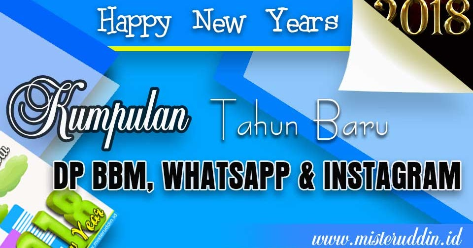 Gambar DP BBM WhatsApp dan Instagram Selamat Tahun Baru
