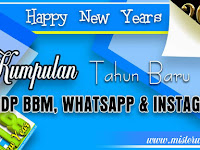 Gambar DP BBM, WhatsApp dan Instagram Selamat Tahun Baru 2018 Elegan