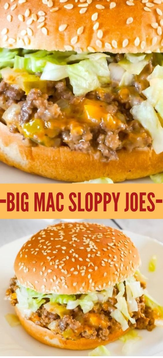 Big Mac Sloppy Joes