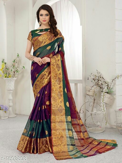 Ethnic Banarasi Silk Zari Work Saree