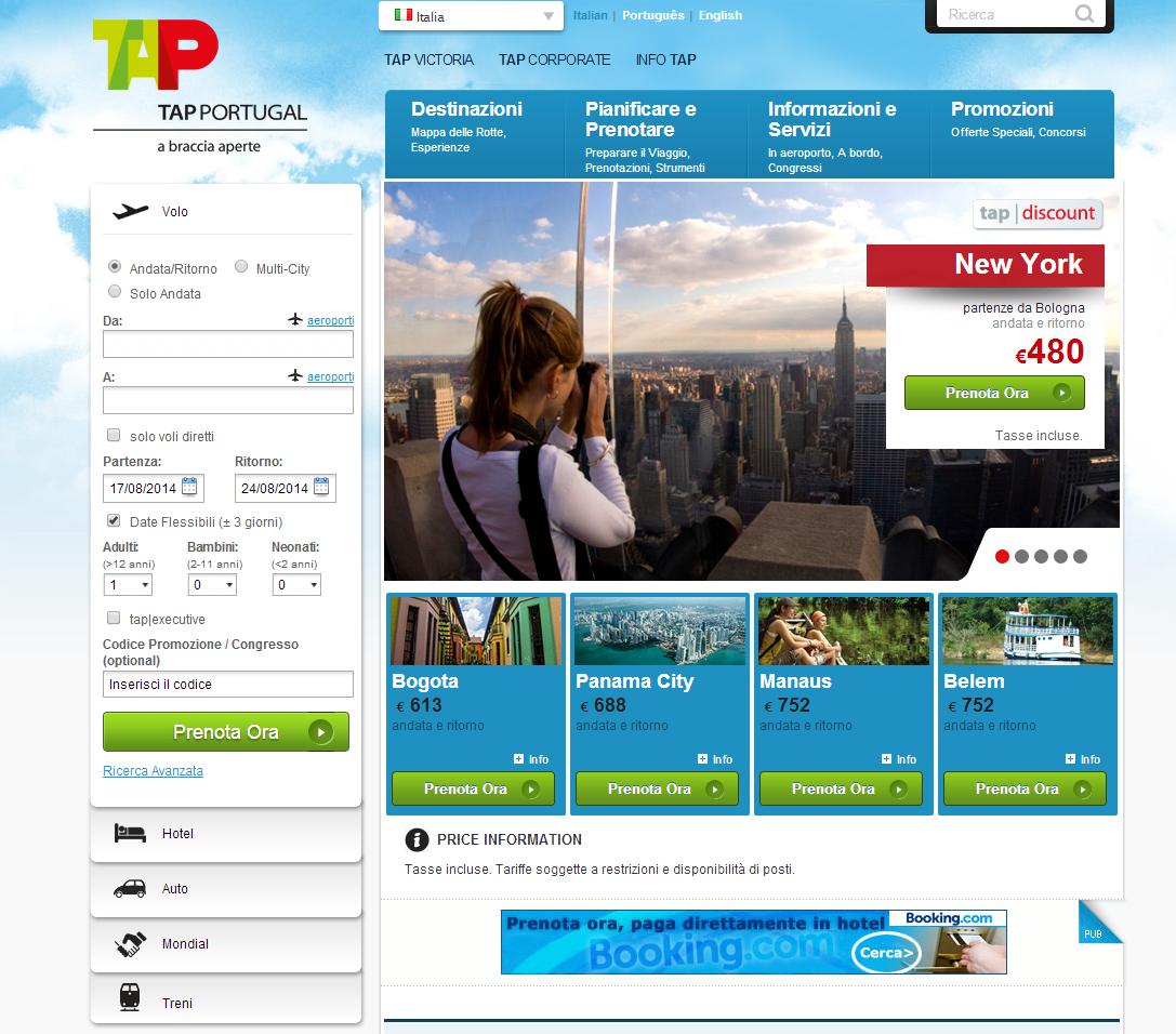 TAP PORTUGAL - Vola verso 58 destinazioni, in 27 paesi tra Europa, Africa, America del Nord e America latina