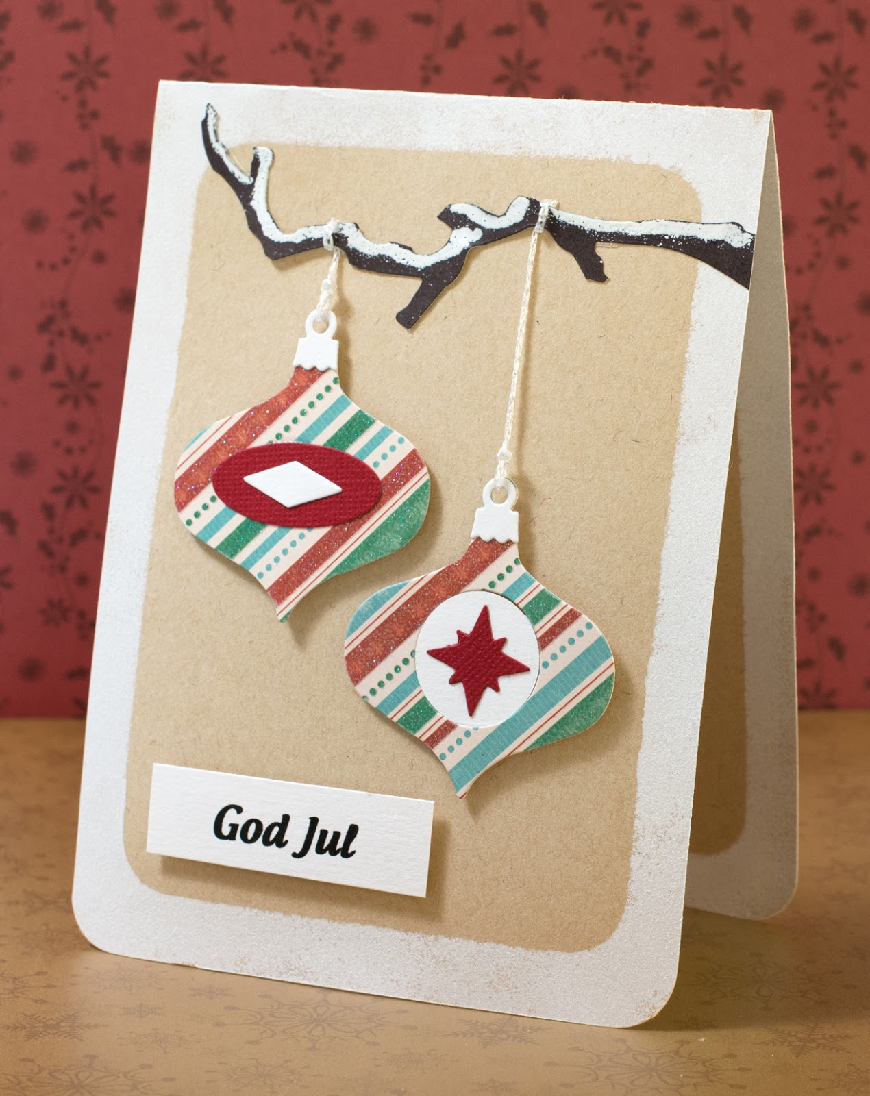 Cardmaking: Card for Allt Om Scrap: Die-cut Christmas card