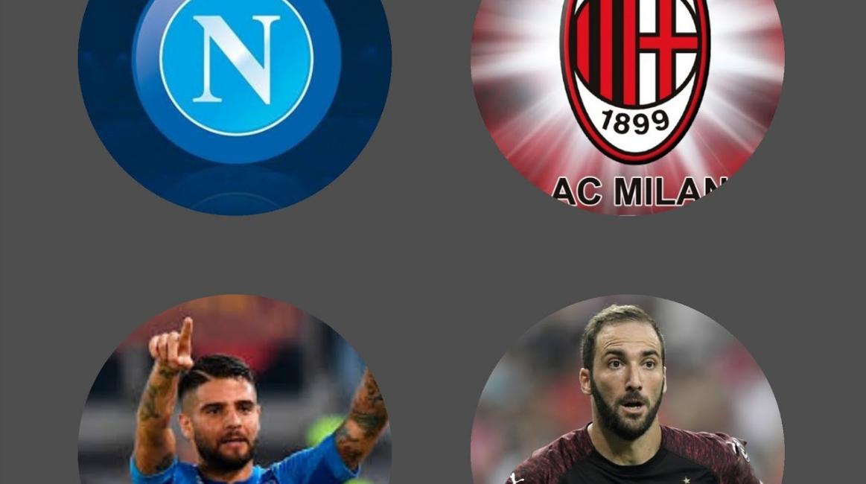 Diretta NAPOLI-MILAN Streaming, come vedere la sfida Milik-Higuain in TV e in internet