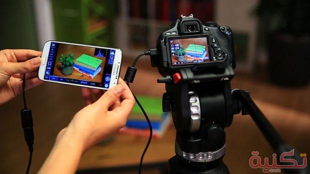 ربط كاميرات DSLR بالهاتف باستخدام كابل OTG