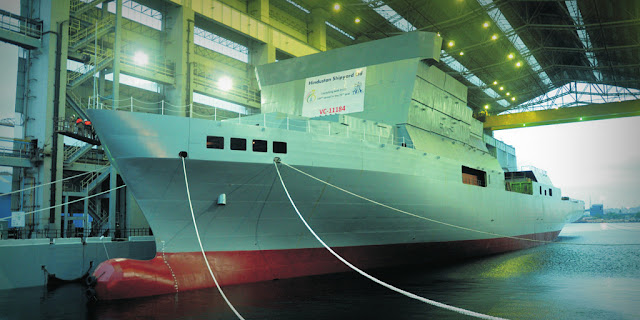 Image Attribute: Floating out of VC11184 ocean surveillance ship at Hindustan Shipyard Limited, Visakhapatnam / Source: Wikipedia