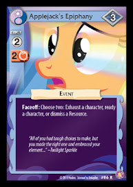 My Little Pony Applejack´s Epiphany Absolute Discord CCG Card