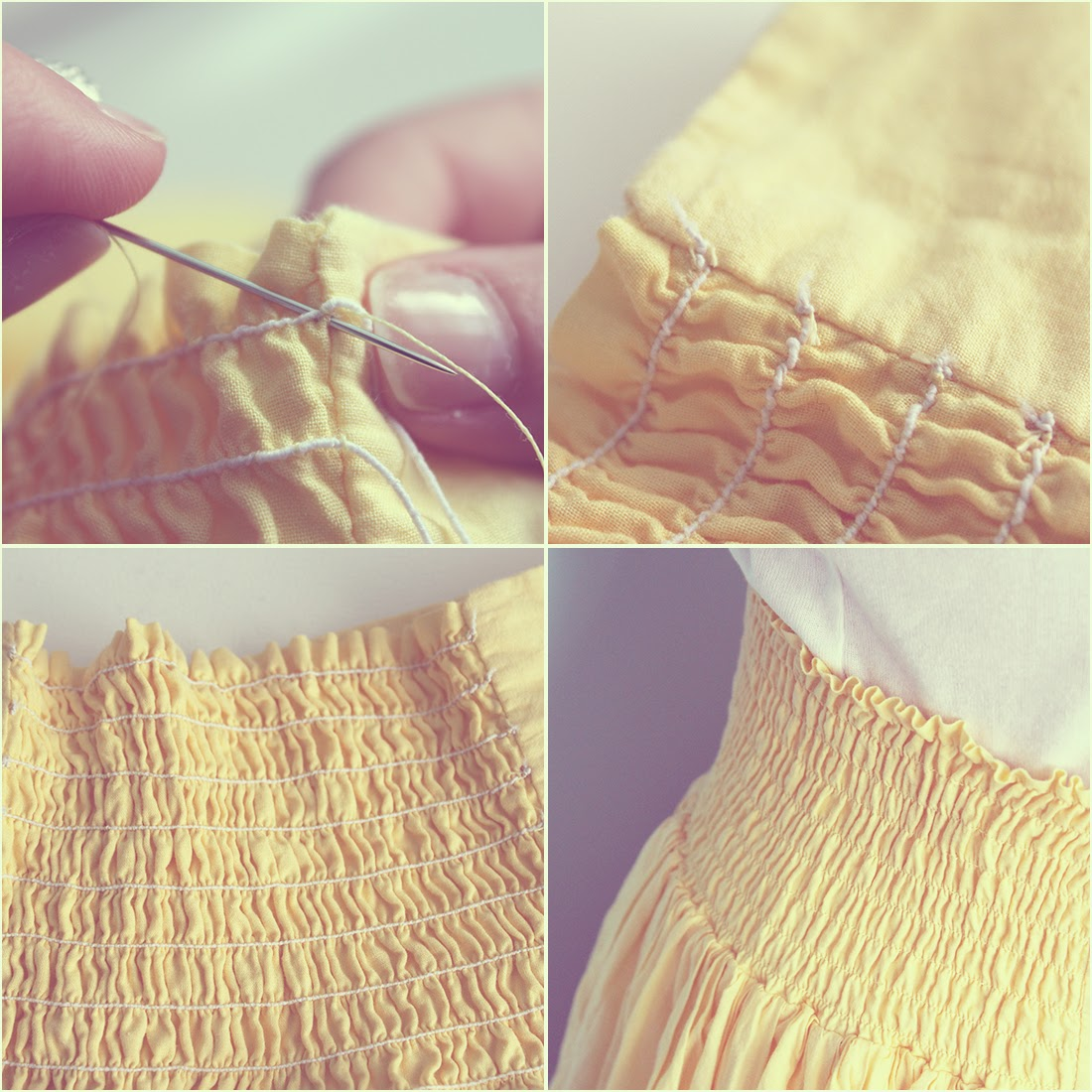Tutorial para coser con goma de canilla