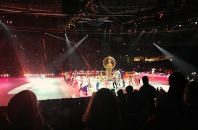 Disney princesses and princes in final scene of Disney on Ice Dream Big