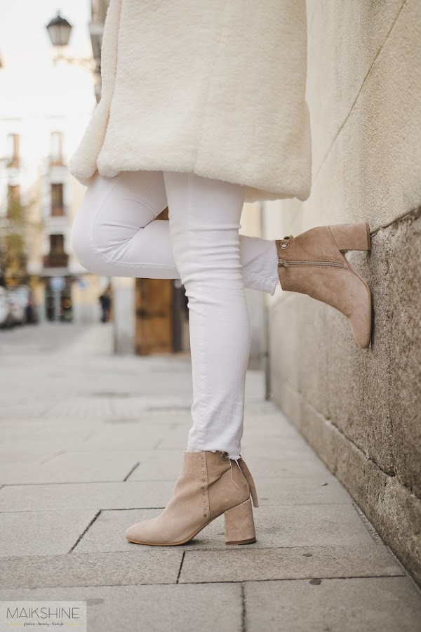 Outfit botines beige Alpe Boots
