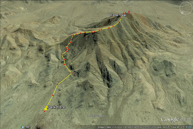 Rishel Peak trail map
