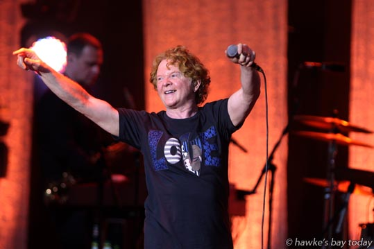 Simply Red and founding frontman Mick Hucknall - Simply Red, Mission Concert, Mission Estate Winery, Taradale, Napier. photograph