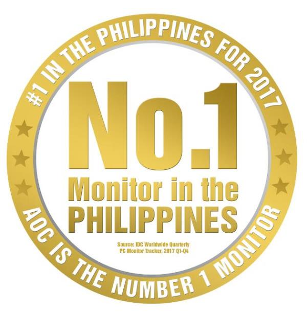 AOC Is the Number 1 Monitor Brand in PH – IDC