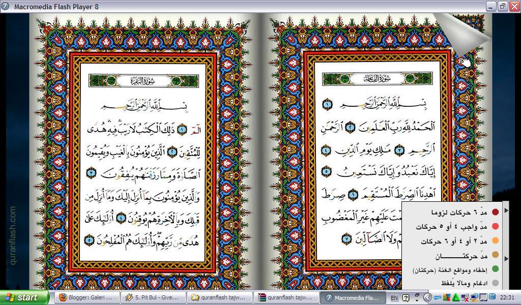 Download Quran Flash Tajweed - Galeri Kitab Kuning
