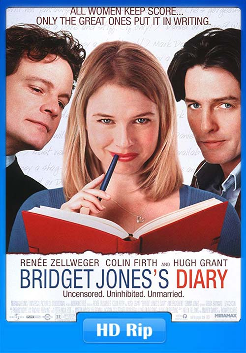 Bridget Jones Diary 2001 720p BDRip Hindi Telugu Tamil Eng ESubs | 480p 300MB | 100MB HEVC