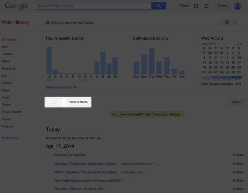 Cara Menghapus Sejarah Pencarian google