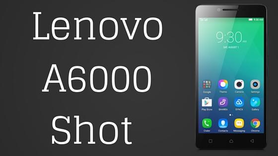 Lenovo A6000 Shot