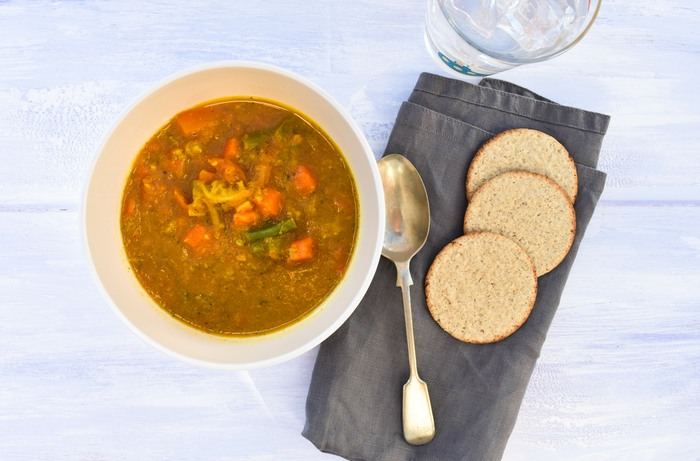 Easy Carrot & Mixed Vegetable Soup