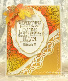 Our Daily Bread Designs, Leaves Background, Autumn Blessings, God's Timing, Leafy Edged Border, Elegant Ovals, Vintage Labels, Designed by Robin Clendenning