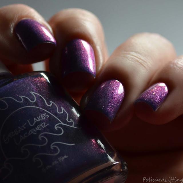blue nail polish with aurora shimmer
