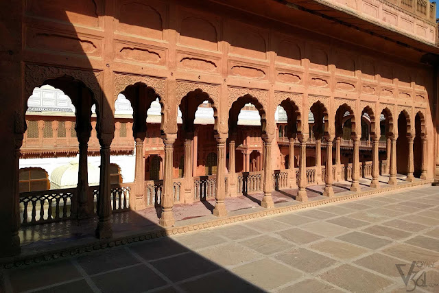 Beautiful corridors built from Red sandstone