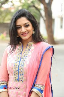 Actress Vimala Raman Stills in Beautiful Pink Salwar Kameez at (ONV) Om Namo Venkatesaya Press Meet  0061.JPG