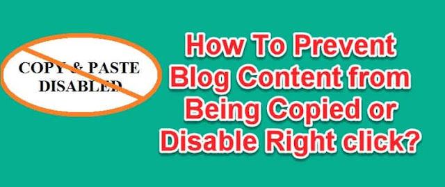 how to prevent blog or website content from being copied and disable right click