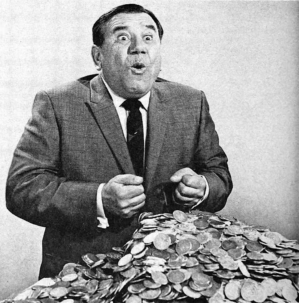 comic television actor Joe E. Ross 1963, a photograph