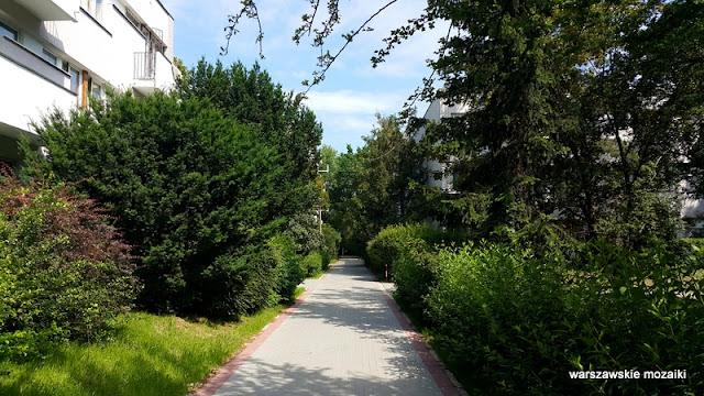 zieleń Warszawa Warsaw Żoliborz osiedle Skibniewska sady bloki