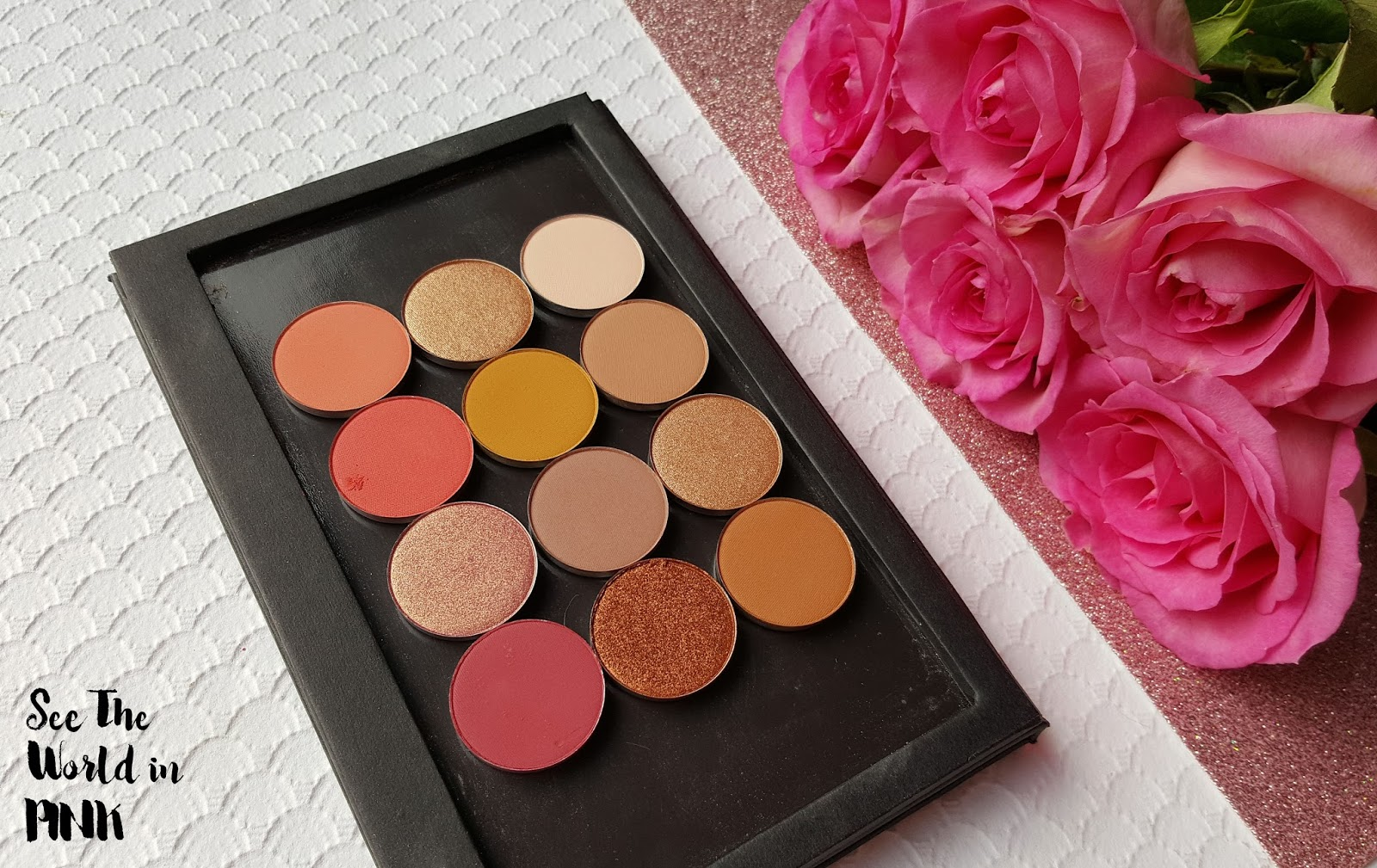 ColourPop Single Pressed Powder Eye Shadows - Swatches, Review and a Sunset Inspired Makeup Look!