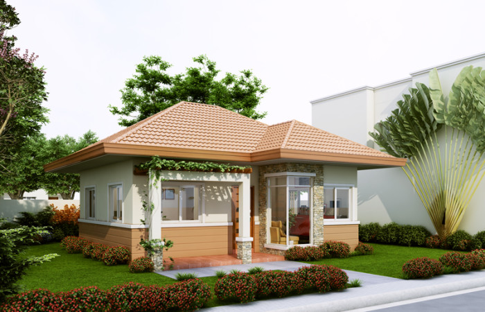 40 small house images designs with free floor plans lay for Small house budget philippines
