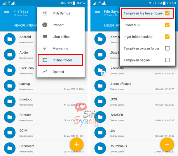 menampilkan file hidden panda android