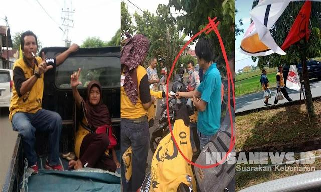 Viral Peserta Kampanye Jokowi Berbaju Hanura Pose 2 Jari, Hanura: Ada Penyusup
