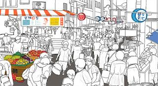 Berbelanja di Bujeon Market Town Korea
