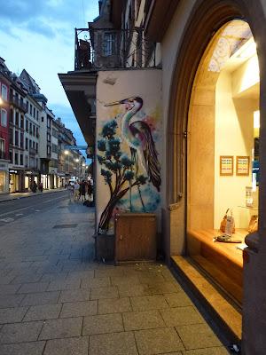 Fischreiher - im Aquarell-Style   Strassbourgh