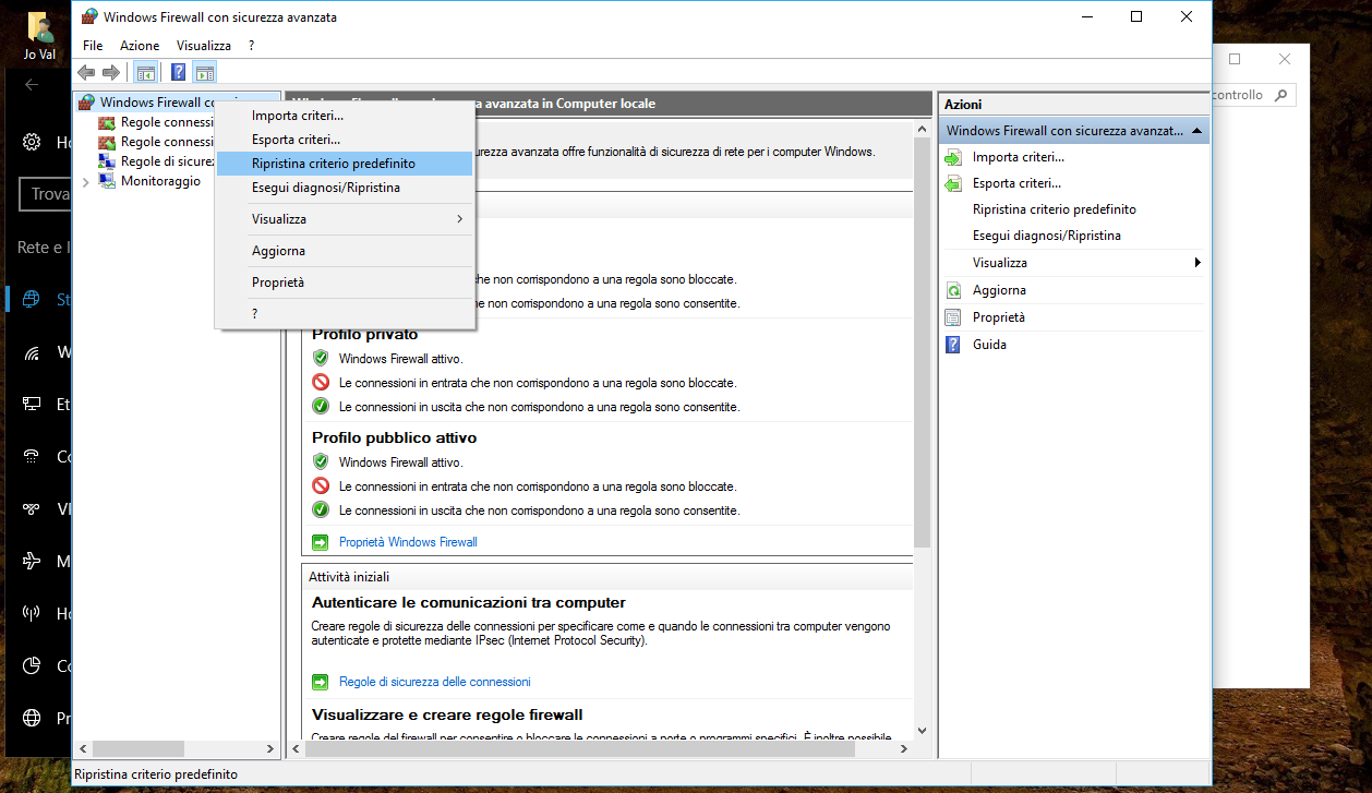 Come reimpostare il Firewall predefinito in Windows 10 4 HTNovo