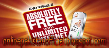PTCL Evo Wingle Muft Offer 1500 Recharge and Get Free Evo wingle