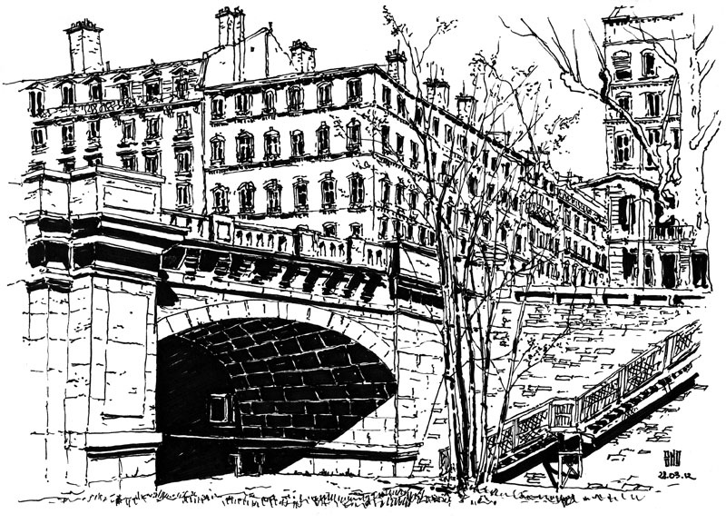 13-Pont-Wilson-Rue-Servient-Lyon-France-Bruno-Mollière-Architectural-Street-Drawings-and-Sketches-www-designstack-co