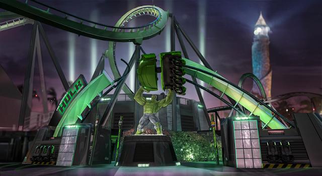The Incredible Hulk Coaster no Islands of Adventure em Orlando