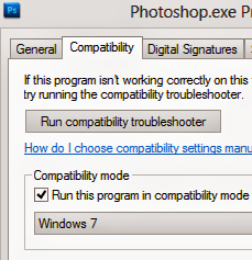 Program Compatibility Mode in Windows 8