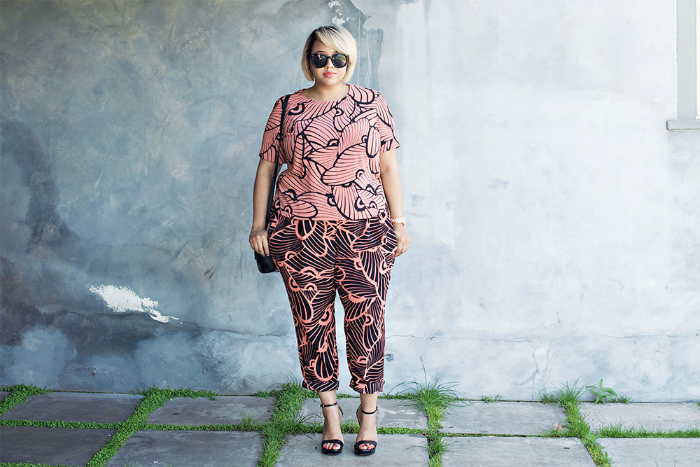 plus-size-printed-set