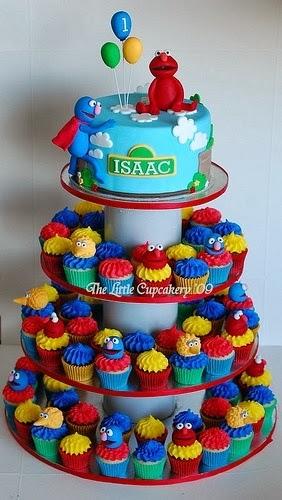 Popular Pinterest Elmo S Cupcake Cake