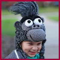Gorro gorila a crochet