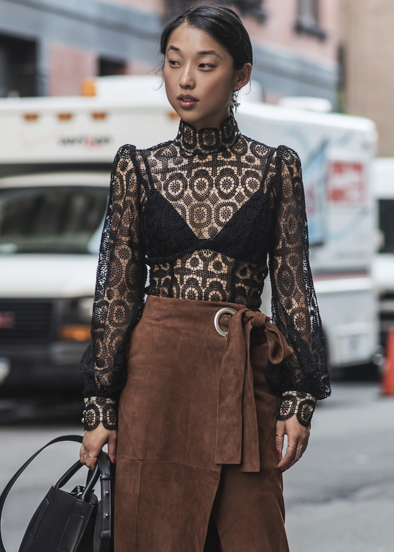Buy a Lace Top and Wear It With Everything in Your Closet — Margaret Zhang Street Style