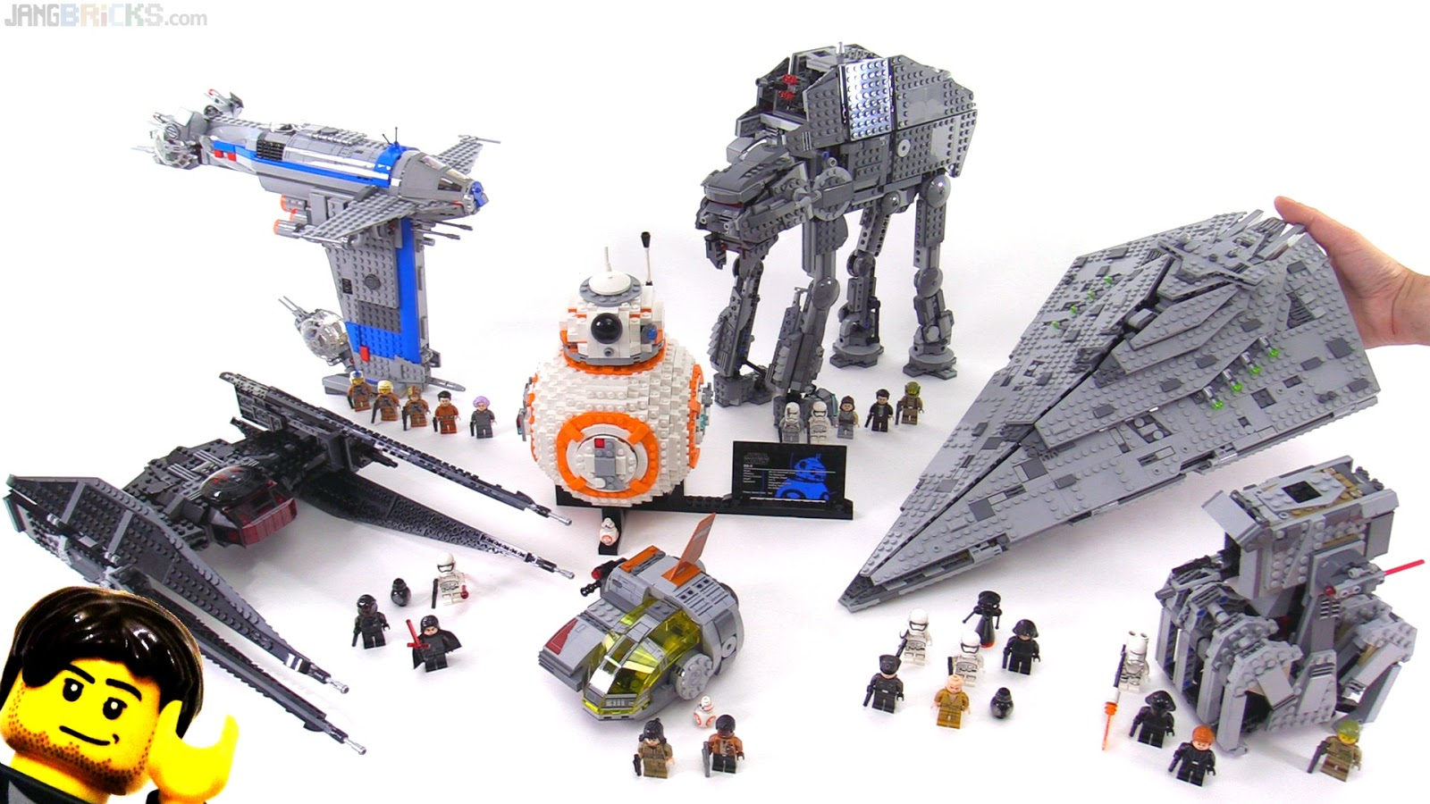 JANGBRiCKS LEGO reviews   MOCs  August 2017 LEGO Star Wars The Last Jedi full wave mini review