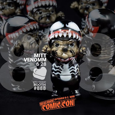 New York Comic Con 2018 Exclusive Venom MITT Vinyl Figure by Six Twenty Eight x myplasticheart