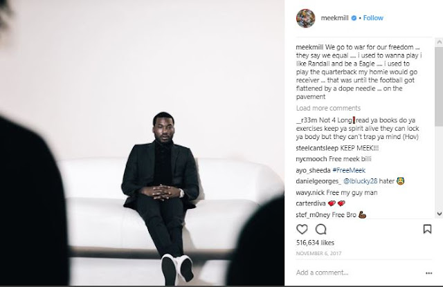Meek Mill Wipes His Entire Instagram Page Clean Except One